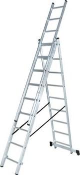 Лестница алюминиевая трёхсекционная Вихрь ЛА 3х8 - фото 4735