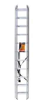 Лестница алюминиевая трёхсекционная Вихрь ЛА 3х11 - фото 4738