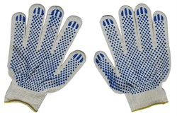 Перчатки ХБ - 3/13 ПВХ Белые - фото 4744