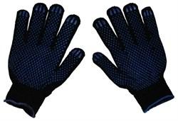 Перчатки ХБ - 4/10 ПВХ Черные - фото 4745
