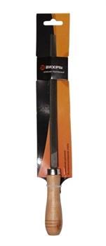 Напильник 200 мм трехгранный, деревянная рукоятка - фото 4791