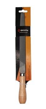 Напильник 200 мм плоский, деревянная рукоятка - фото 4793
